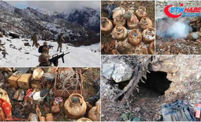PKK'lı teröristlerin kullandığı 9 barınak ve sığınak imha edildi