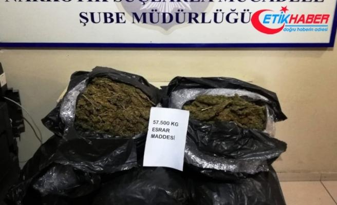 Şanlıurfa'da 57 kilo 500 gram esrar ele geçirildi