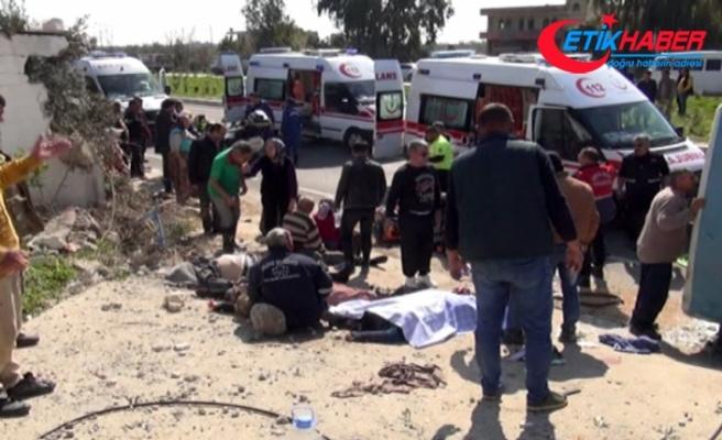 Tarım işçilerini taşıyan midibüs devrildi: 5 ölü, 21 yaralı
