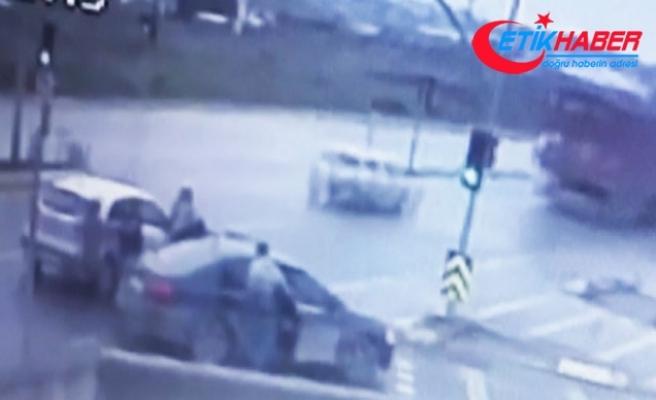 Tuzla'da iki kadının hırsızlarla mücadelesi kamerada