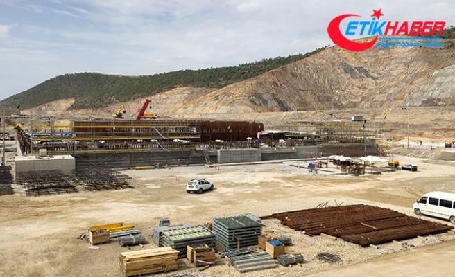 Akkuyu'da 1'inci güç ünitesinin temel plakasının beton dökme çalışmaları tamamlandı