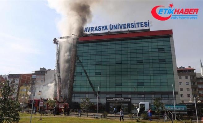 Avrasya Üniversitesi yerleşkesinde yangın