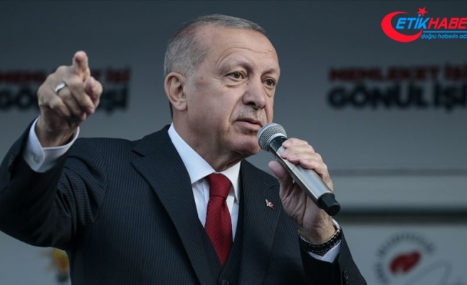 Cumhurbaşkanı Erdoğan: 'Bölücü örgüte Kandil'i mezar etmek için bu seçimden güçlü çıkmalıyız'