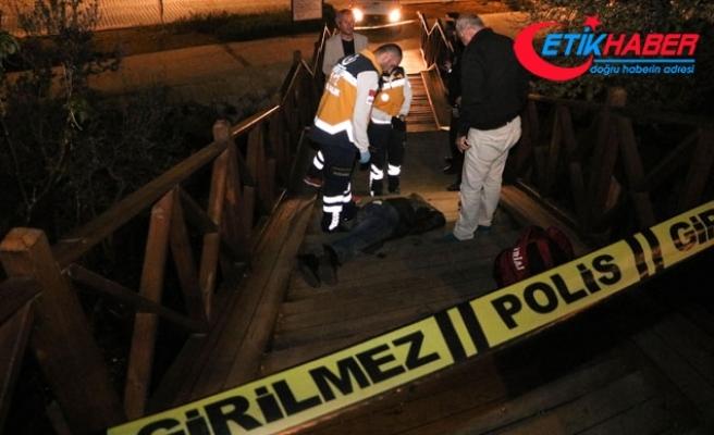 Elleri cebinde seyir terasının merdivenlerinden inerken düşüp öldü