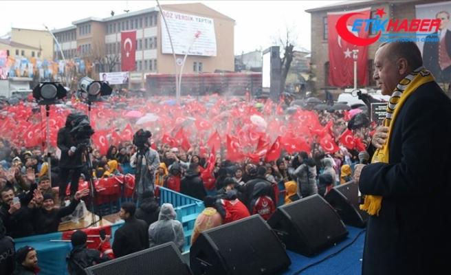 Erdoğan: CHP ve onun ruh ikizi HDP'ye rağmen yatırımlarımıza devam edeceğiz