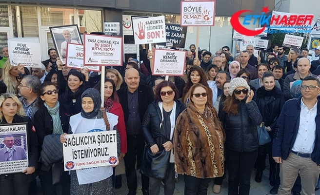 Esenyurt'ta sağlık ocağında doktora saldırıya protesto