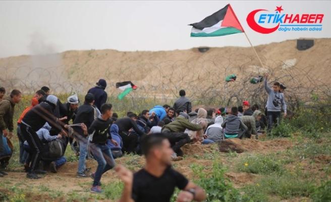 İsrail askerleri Gazze sınırında 2 Filistinliyi şehit etti