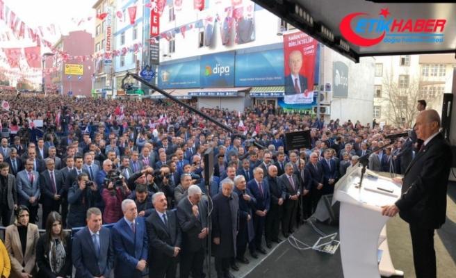 MHP Lideri Bahçeli:  Ederi 1 dolar eden şerefsizlerin tekrardan kafasını kaldırmasına fırsat vermeyeceğiz