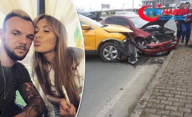 Rizespor'un Ukraynalı futbolcusunun eşi kazada yaralandı