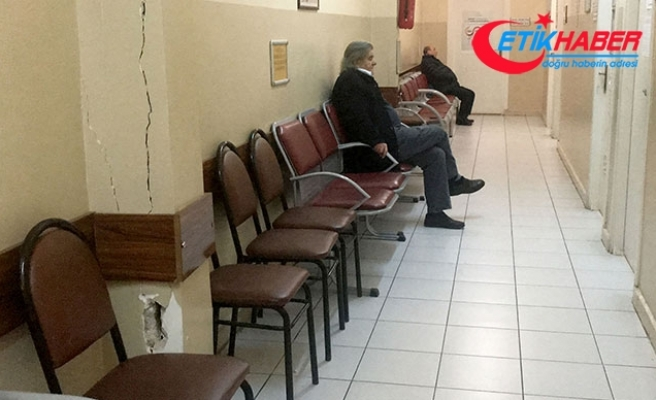 Sağlık merkezinde korkutan görüntü