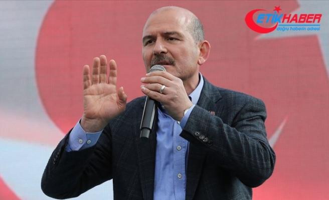 Soylu: Türkiye'ye patlayıcı girişi operasyonla engellendi