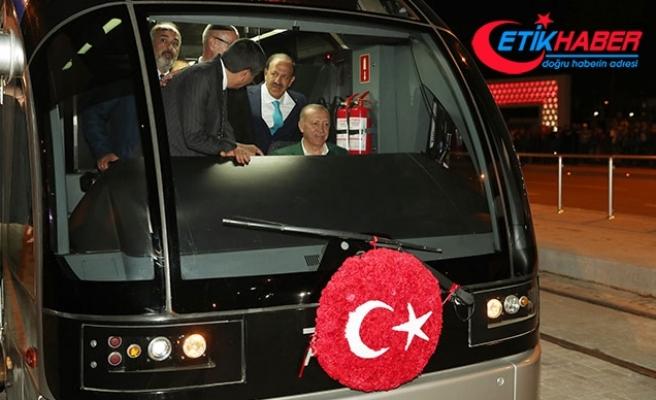 Test sürüşünü Cumhurbaşkanı Erdoğan yaptı