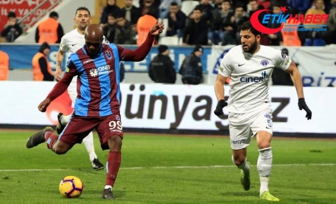 Trabzonspor ikinci yarıda 2 puan bıraktı