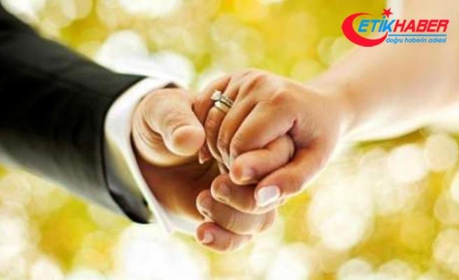 2018 yılında 553 bin 202 kişi evlendi