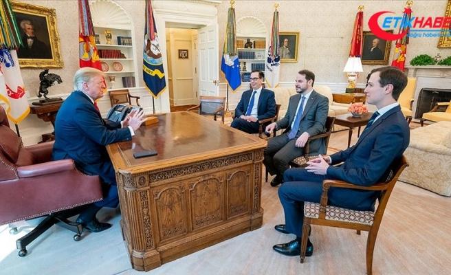 Bakan Albayrak Beyaz Saray'da ABD Başkanı Trump ile görüştü
