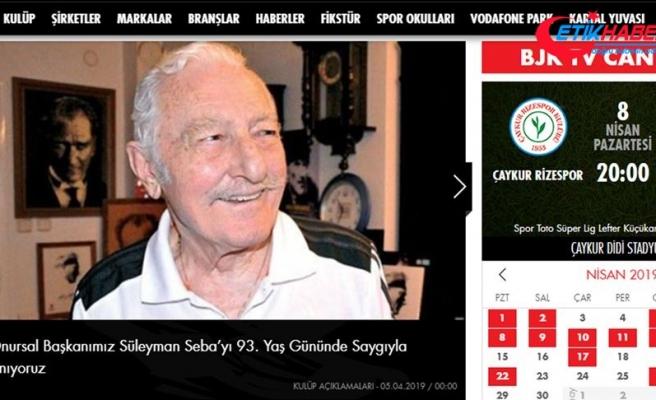 Beşiktaş Süleyman Seba'nın doğum gününü unutmadı