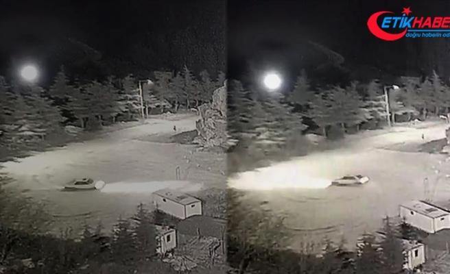 Karda 'drift' yapan sürücüye para cezası