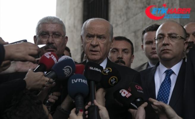 MHP Lideri Bahçeli: Gül, AKP'ye vefasızlık yapıyor ama MHP'nin politikasına da hiç olmazsa saygı duysun