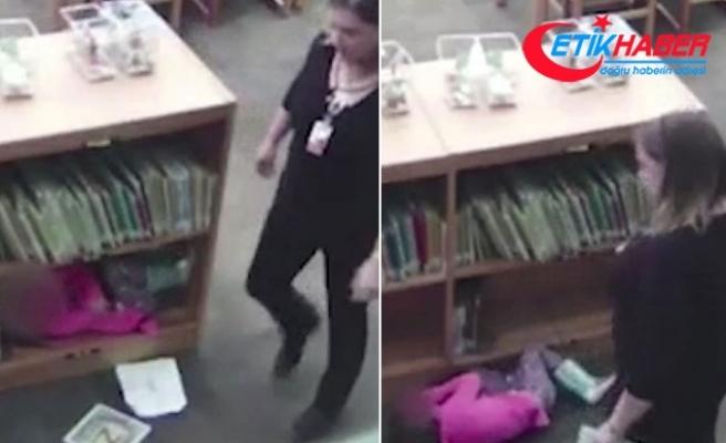 Öğretmenin 'darp' yalanını güvenlik kamerası ortaya çıkardı