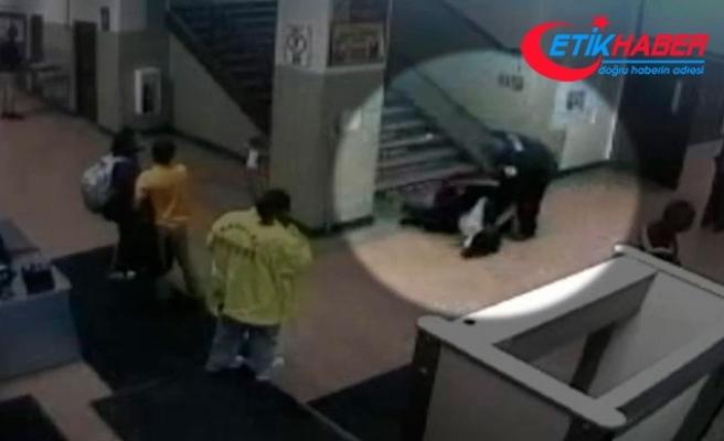 Polisler, kız öğrenciyi merdivenden sürükleyip, darp etti