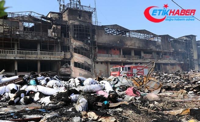 Tekstil fabrikasındaki yangının zararı 60 milyon lira