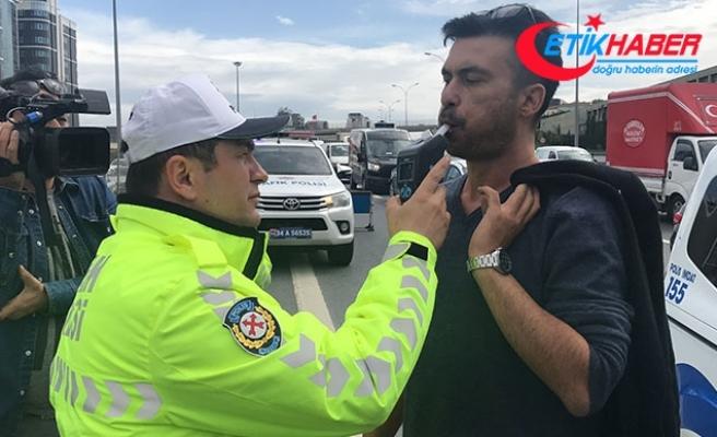 TEM'de makas atan sürücü polise yakalandı
