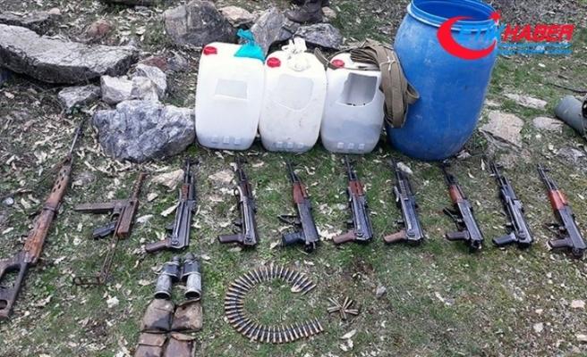 Tunceli'de terör örgütünün silah deposu imha edildi