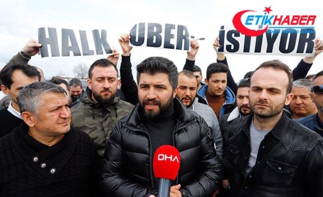 Uber sürücülerinin Ankara'ya girişine izin verilmedi