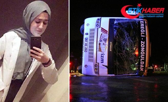 Üniversiteli Melike'nin öldüğü kazada, midibüs sürücüsüne 3 yıl 4 ay hapis