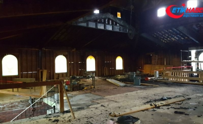 ABD'de kundaklanan camide hasar büyük