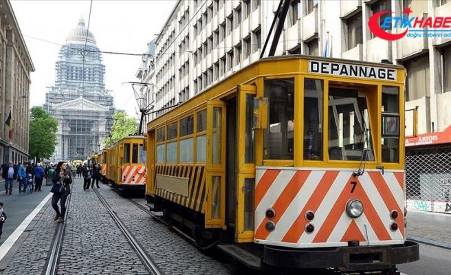 Brüksel'de 150 yıllık tramvaylar görücüye çıktı