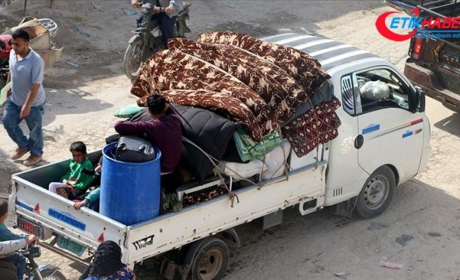 İdlib'de göç hareketi sürüyor