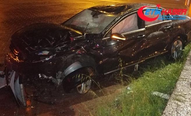 İş Bankası yöneticisi Kurbanoğlu ve kardeşi kazada yaralandı