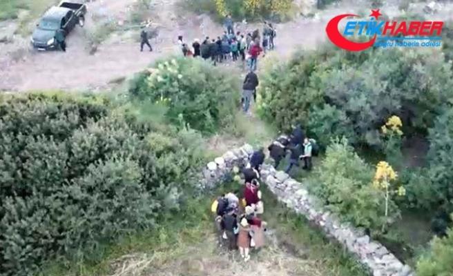 Ormana saklanan kaçaklar, yerleri drone ile tespit edilerek yakalandı