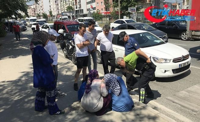 Aynı noktada 1 saat arayla 2 kaza: 2 kadın yaralı