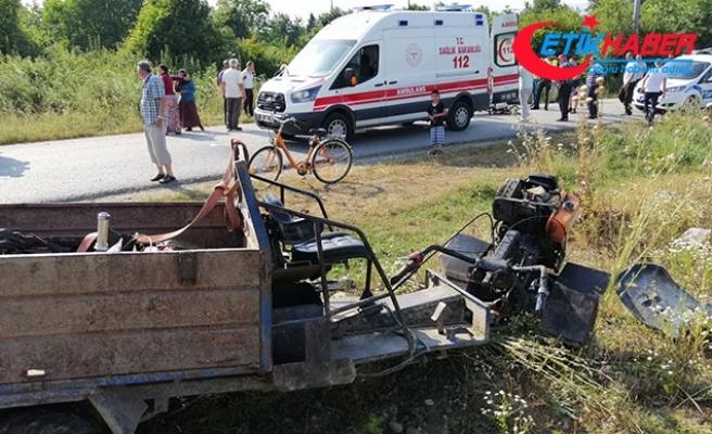 Düzce'de 'pat pat' devrildi: 1 ölü, 4 yaralı