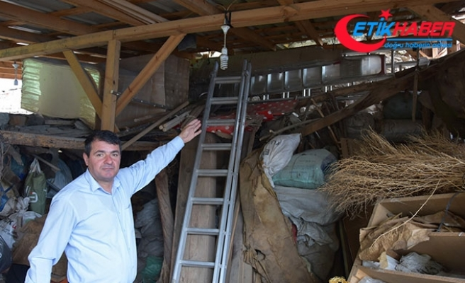 Evin bahçesinde bulunan 550 yıllık hamam depo olarak kullanılıyor