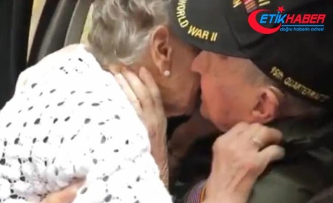 """İki aşık 75 yıl sonra böyle buluştu! """"Neden daha önce dönmedin"""""""