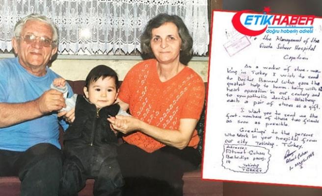 Kunduracı Ahmet'ten Cape Town'a kalp nakli mektubu