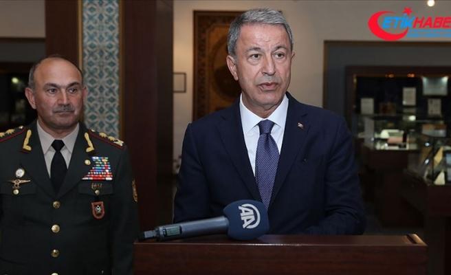 Milli Savunma Bakanı Akar: Türkiye Azerbaycanlı kardeşlerimizin yanında olmaya devam edecektir