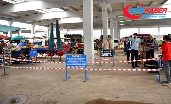 Müşteriye kaba davranan pazarcının tezgahı kapatıldı