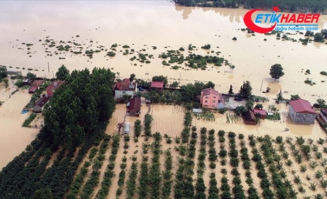 Samsun'da sağanak ev ve tarım arazilerini su altında bıraktı