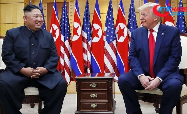 Trump ile Kim 'silahsızlandırılmış bölge'de görüştü