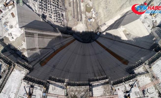 Yusufeli baraj gövdesinde yüzde 33'lük fiziki gerçekleşme