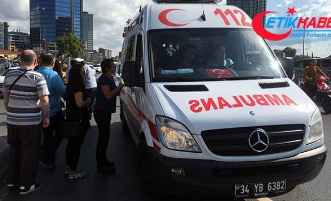 Beşiktaş'ta trafik polisine çarpan taksici gözyaşlarına hakim olamadı