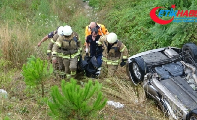 Çekmeköy'de takla atan aracın sürücüsü hayatını kaybetti