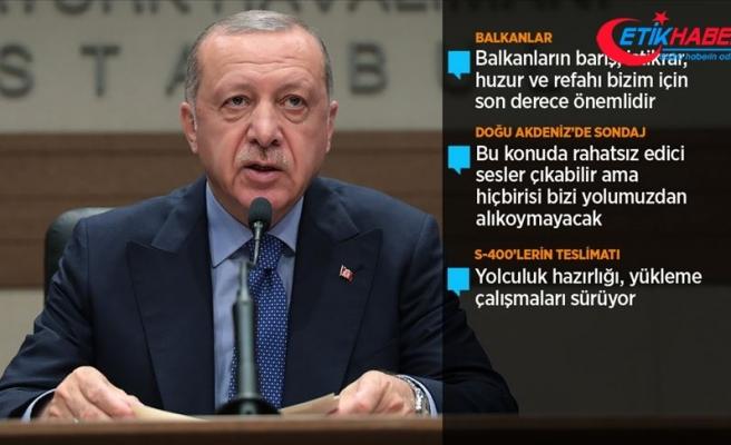 Cumhurbaşkanı Erdoğan'dan Doğu Akdeniz'de sondaj açıklaması
