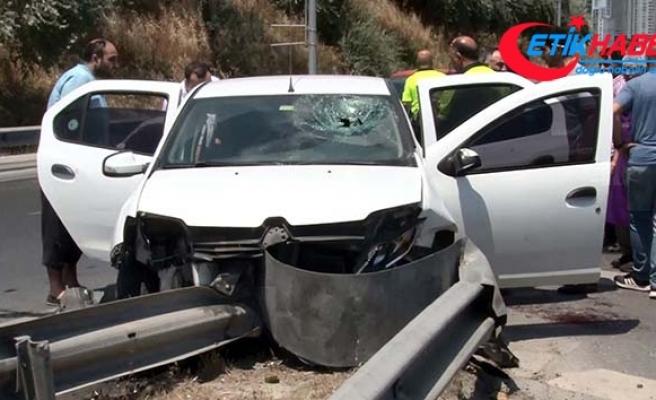 Emniyet kemerini koltuğa taktı, kazada ağır yaralandı