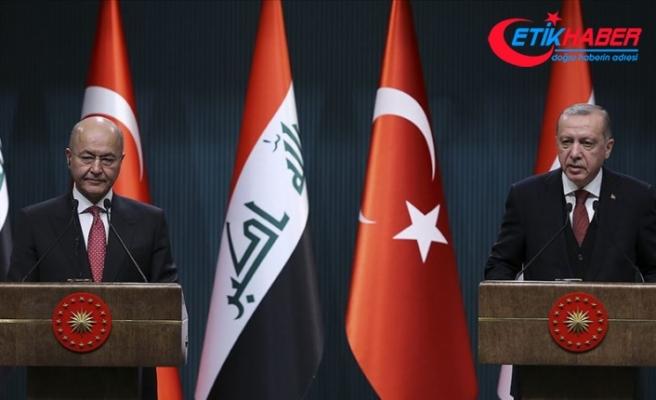 Irak Cumhurbaşkanı Salih'ten Cumhurbaşkanı Erdoğan'a taziye