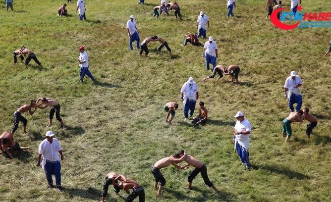 Kırkpınar'da ikinci gün güreşleri başladı